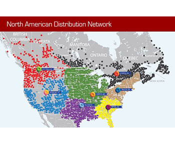 North American distribution network